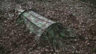 getlinkyoutube.com-Special Forces Twin Hooped Bivvi (Bivi bag) Wild Camping / Bird Watching