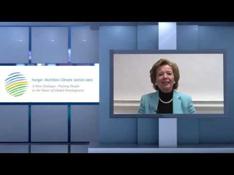 A Message from Mary Robinson to particpants of the Hunger - Nutrition - Climate Justice Conference