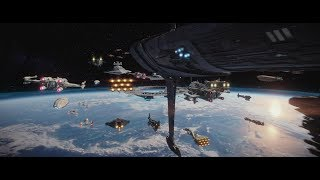 (Re-Upload) Rogue One: A Star Wars Story -  Space & Aerial Battle of Scarif Supercut HD