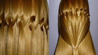 """getlinkyoutube.com-Flechtfrisur """"Wasserfall Zopf"""" flechten.Zopffrisur für mittel/lange Haare.PeinadoTrenza de Cascada"""