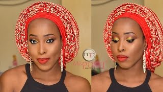 getlinkyoutube.com-Makeup Tutorial - Asoebi bella #2 - African| Gele |ankara inspired | For dark skin | Women of colour