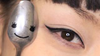 getlinkyoutube.com-MY SPOON STORY ~ Apply Eyeliner & Mascara,Curl your Lashes ~
