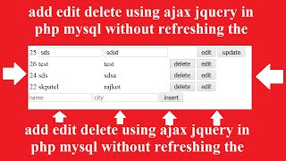 getlinkyoutube.com-table add edit delete using ajax jquery in php mysql without refreshing the page