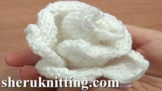 getlinkyoutube.com-Knit Rose Flower Pattern Tutorial 13 Free Flower Knitting Patterns
