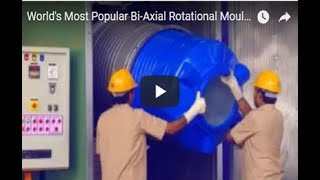 getlinkyoutube.com-Single Station Bi-Axial Rotational Moulding Machine Model EN-1000x2
