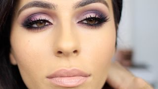 getlinkyoutube.com-Purple + Pink Smoky Eye Makeup | Eye Makeup Tutorial | Teni Panosian