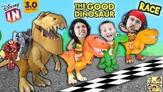 getlinkyoutube.com-The GOOD DINOSAUR Race!  Disney Infinity 3.0 Arlo's Dino Dash + Toy Box Speedway (FGTEEV Fun)