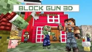 getlinkyoutube.com-Block Gun 3D: Zombie Farm (MineCraft Style) GamePlay