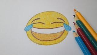 """getlinkyoutube.com-Como desenhar o emoticon """"chorando de rir"""" do WhatsApp"""