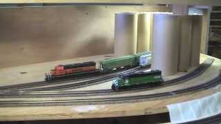"getlinkyoutube.com-BNSF Birdwood Sub"" HO Scale layout update. Part 16"