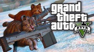 getlinkyoutube.com-GTA 5 MODS - CATS WITH GUNS! (GTA 5 Online PC Mods)