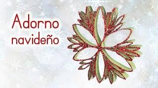 getlinkyoutube.com-Manualidades para Navidad: ADORNO NAVIDEÑO reciclando tubos de rollos de papel higiéncico