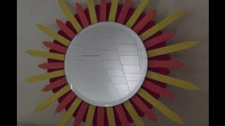 getlinkyoutube.com-Fun DIY popsicle stick mirror for under 5 dollars