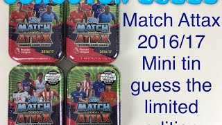 getlinkyoutube.com-Match Attax 2016/17 trading cards guess the limited edition with 4 mini tins