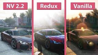 getlinkyoutube.com-GTA 5 – NaturalVision 2.2 vs. Redux vs. Vanilla Visual Graphics Mod Comparison