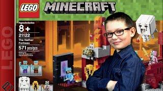 getlinkyoutube.com-LA FORTERESSE DU NETHER - LEGO Minecraft Set 21122 - Family Geek