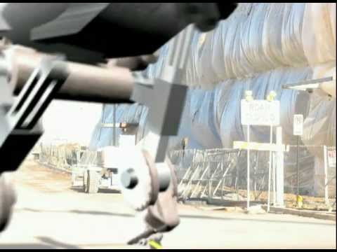 Robert Egnacheski - 3D Mech Animation Walk Test - Behind View, Construction Zone