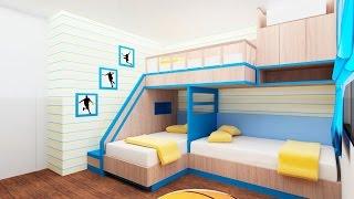 getlinkyoutube.com-30 Bunk Bed Idea for Modern Bedroom - Room Ideas