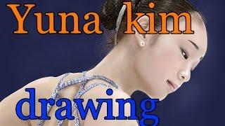 getlinkyoutube.com-Yuna kim - speed drawing