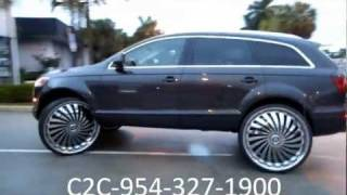 "AceWhips.NET-C2C Customs- 2011 Audi Q7 Truck on 30"" DUB Swyrl Floaters"
