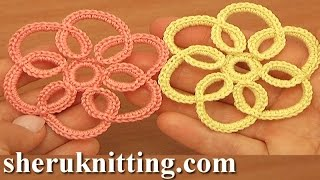 getlinkyoutube.com-How to Crochet Simple Flat Flower Tutorial 100