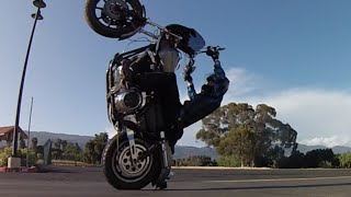 getlinkyoutube.com-Harley Davidson Freestyle Riding