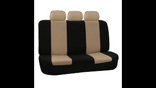 getlinkyoutube.com-Car Split Bench Seat Covers Installation - FH Group Presents