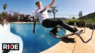 getlinkyoutube.com-Tony Hawk and Lance Mountain Backyard Pool Session