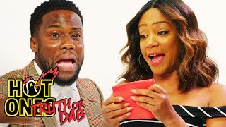 Kevin Hart and Tiffany Haddish Play Truth or Dab | Hot Ones width=
