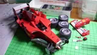 getlinkyoutube.com-出来た!! 超絶フェラーリF2004ペーパークラフト 【 Ferrari F2004 PaperModel 】