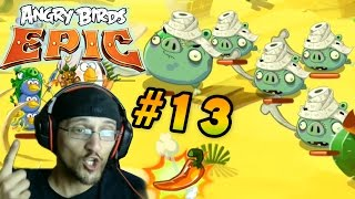 getlinkyoutube.com-Lets Play Angry Birds EPIC Part 13: Mummy vs. Duddy! Desert Island: Pig Castle (Face Cam Commentary)