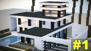 getlinkyoutube.com-Minecraft: Tutorial casa MEGA moderna #1
