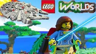 getlinkyoutube.com-LEGO Worlds - STAR WARS SPACESHIP! LEGO Star Wars - LEGO Worlds SpaceShip (LEGO Worlds)