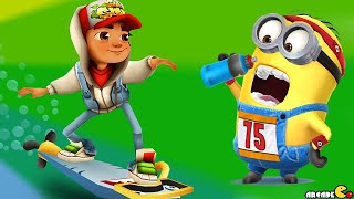 getlinkyoutube.com-Despicable Me: Minion Rush Multi Player Challenge Subway Surfers Greece Map Hero Outfit!