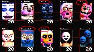 getlinkyoutube.com-All NEW Animatronics!!.. || FNaF Sister Location Golden Freddy 10/20 *Custom Night*