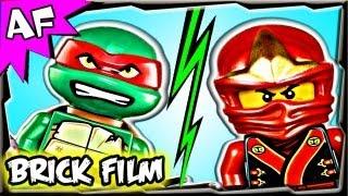 getlinkyoutube.com-Ninjago KAI vs RAPHAEL TMNT - Lego Battle #3 Part 1 - Click a Winner!