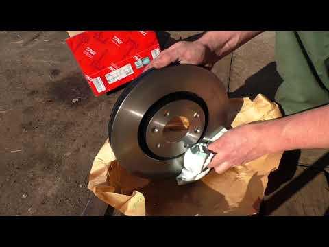 Замена передних тормозных дисков Peugeot 307 C4