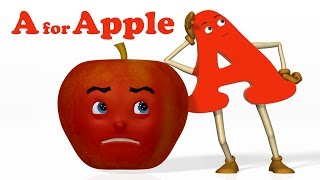 getlinkyoutube.com-A for Apple | Alphabet ABC Songs | Phonics Song  - 3D ABC Songs & Rhymes for Children