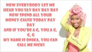 Nicki Minaj - Starships Lyrics Video