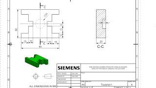 getlinkyoutube.com-Siemens NX10 Drafting: Tutorial 01