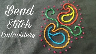 Bead Stitch / Moti Tanka Stitch (Embroidery Work)