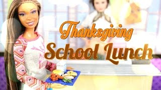 getlinkyoutube.com-DIY - How to Make:  Doll Thanksgiving School Lunch - BACK TO SCHOOL - Handmade - Crafts