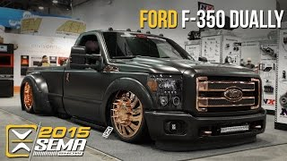 getlinkyoutube.com-SEMA 2015 | Ford F-350 Dually | On D Gas Promotions