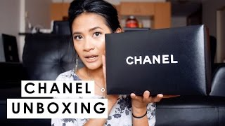 getlinkyoutube.com-CHANEL UNBOXING!  Chanel Square Mini Flap Caviar SHW