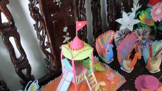 MN Cẩm Thịnh làm đồ dùng, đồ chơi chuẩn bị cho năm học mới 2013-2014