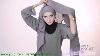 getlinkyoutube.com-Tutorial hijab pashmina simple Kreasi Shawlbyvsnow Cotton Scarf  2 style