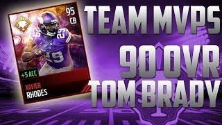 TEAM MVPS AND 90 OVR TOM BRADY!-NEW THINGS IN MADDEN MOBILE 17!