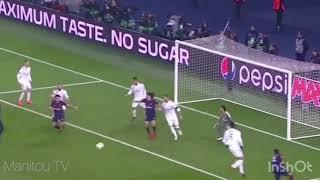 PSG - Réal 1-2 tous les buts commentaire bein sport width=