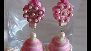 getlinkyoutube.com-DIY- How to make Paper Quilled Jhumka, paper quilling earring tutorial