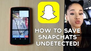 getlinkyoutube.com-How to Save Snapchat Pics / Stories / Videos Undetected!